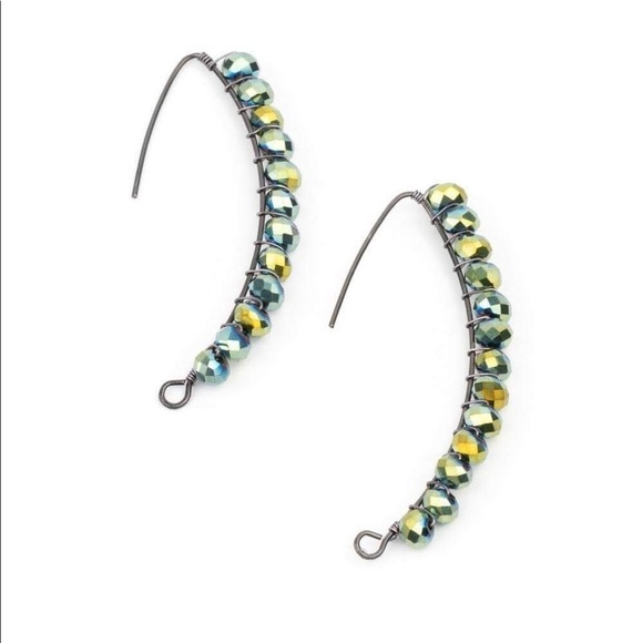 Oil spill earrings